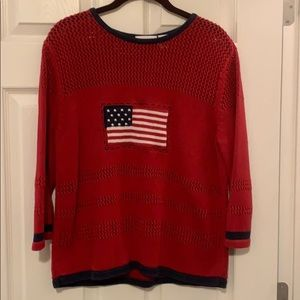 Croft &Barrow Sweater USA Flag Sweater Size L